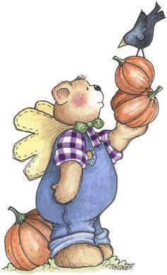 Bear clipart autumn #10