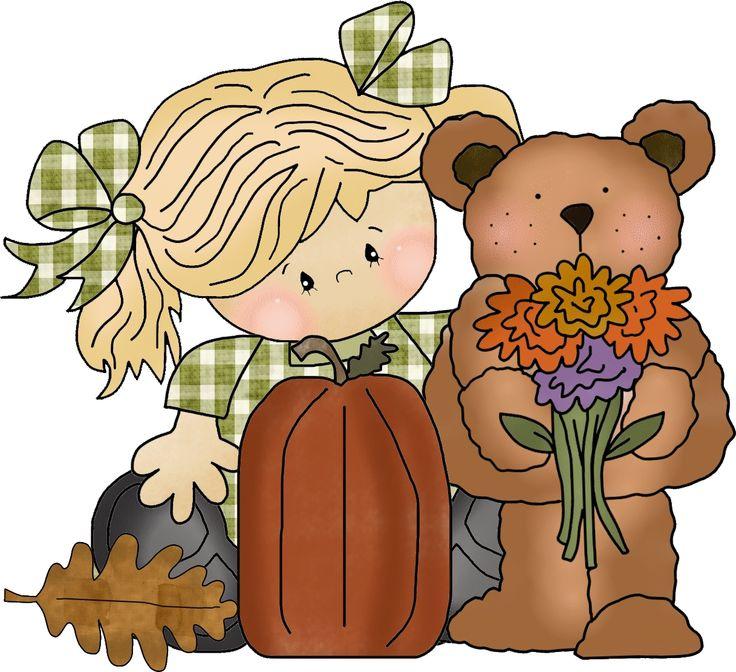 Bear clipart autumn #15