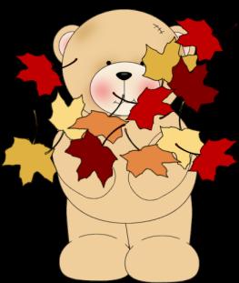 Bear clipart autumn #9