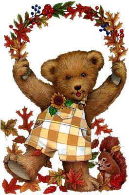Bear clipart autumn #14