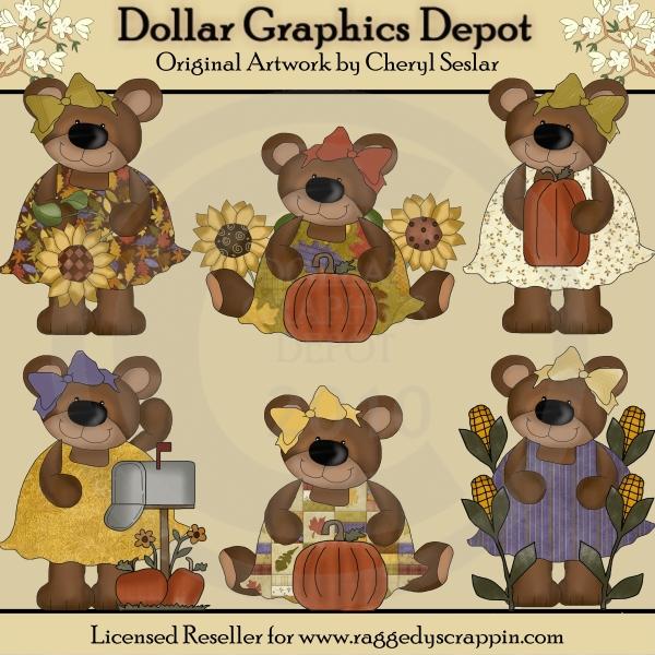 Bear clipart autumn #6