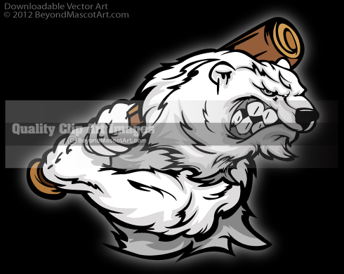 Baseball clipart bear Clip Art Mascot Team Sports
