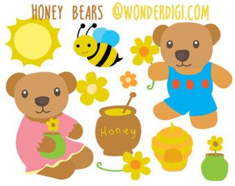 Bee clipart bumbble Etsy Bear Animals Honey clipart