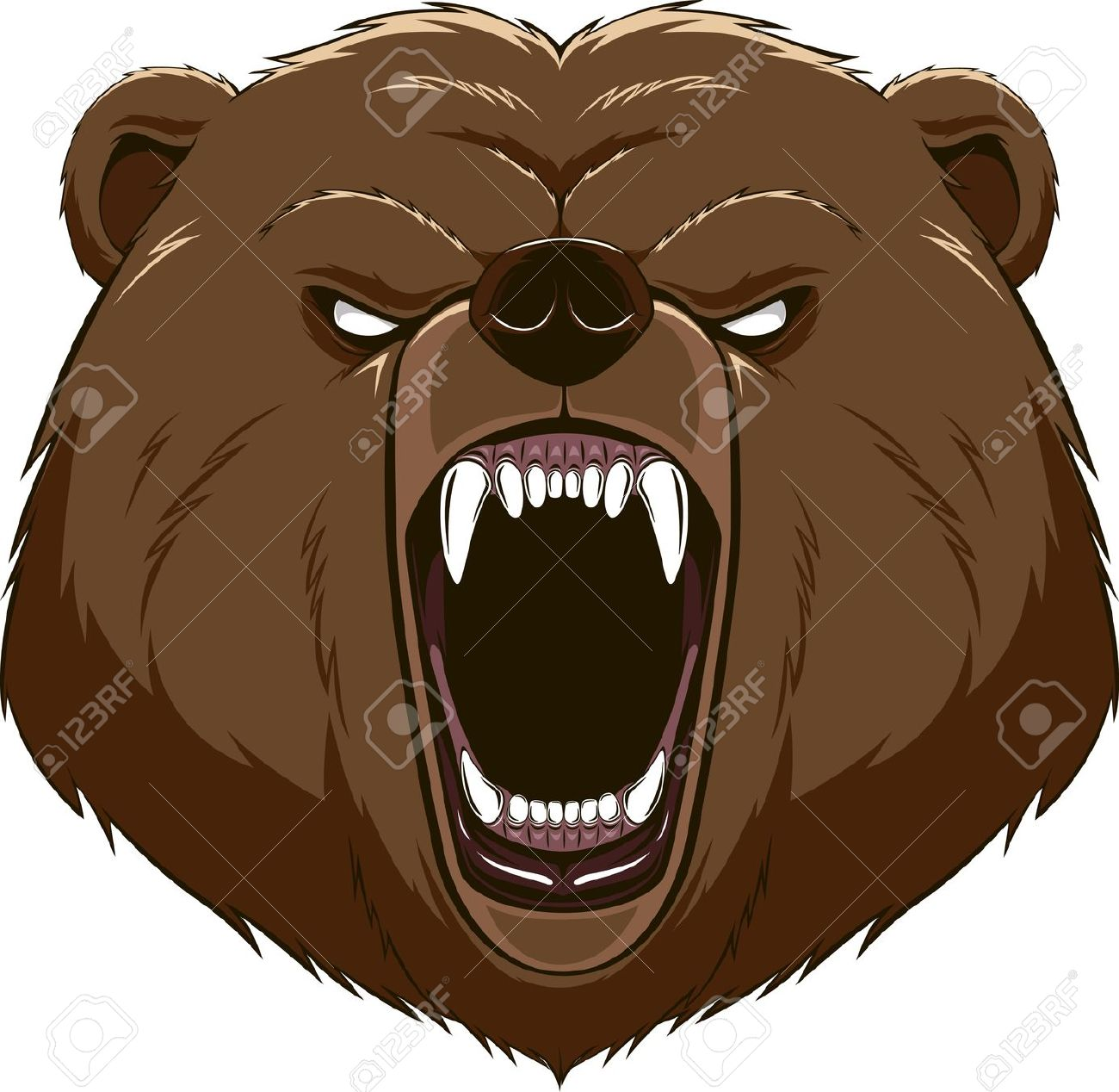 Brown Bear clipart bee Head bear clipart clipart Angry