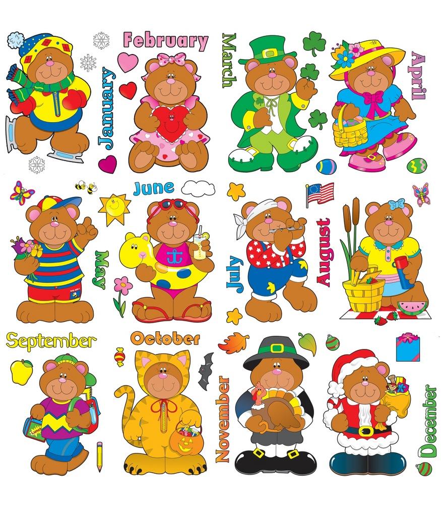 Bear clipart carson dellosa Twelve according Board different Holiday