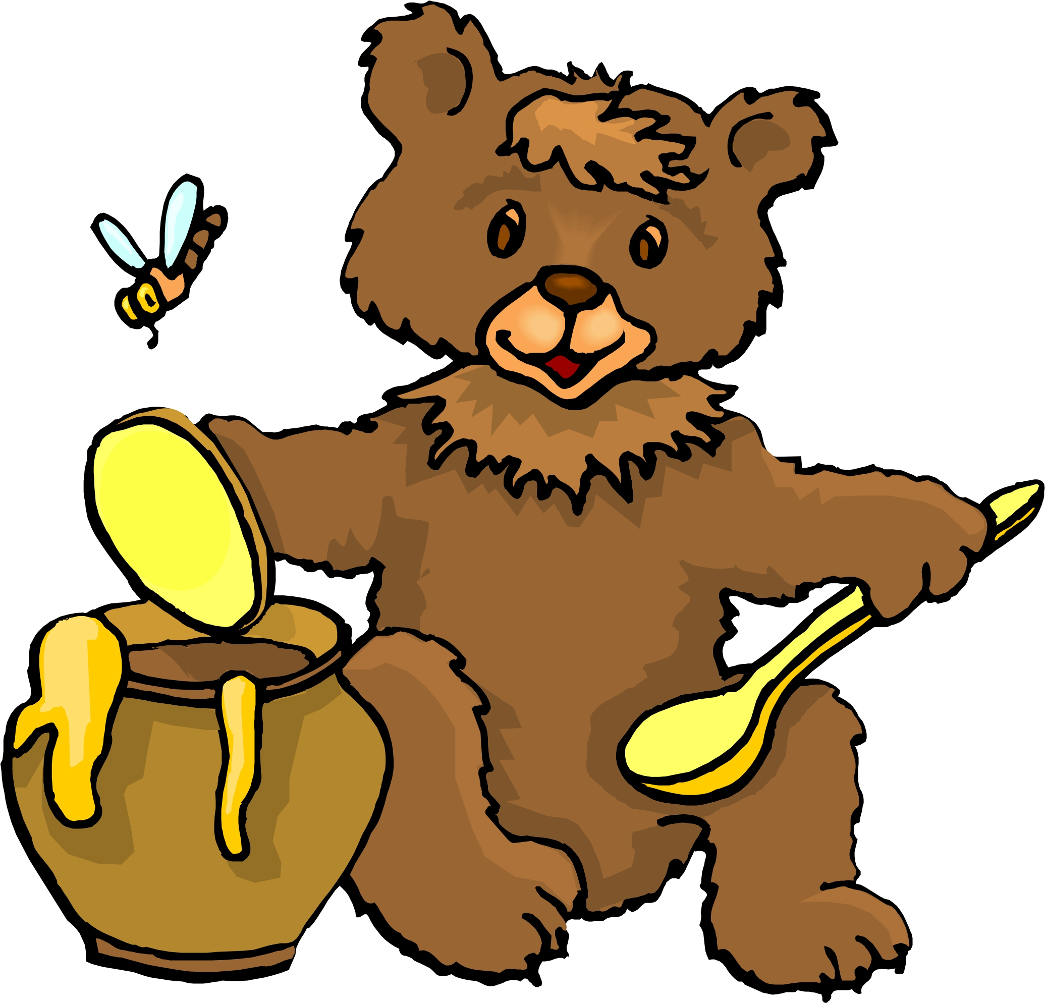 Bee Hive clipart flying Eating  Clipart Honey Bear
