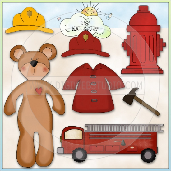 Bear clipart firefighter  Dolls Bear Paper Clip