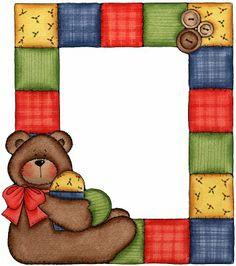Bear clipart frame Pinterest on Molduras Artes Web