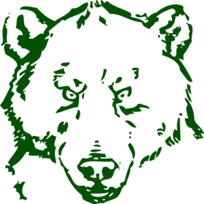 Bear clipart green Art online  Polar vector