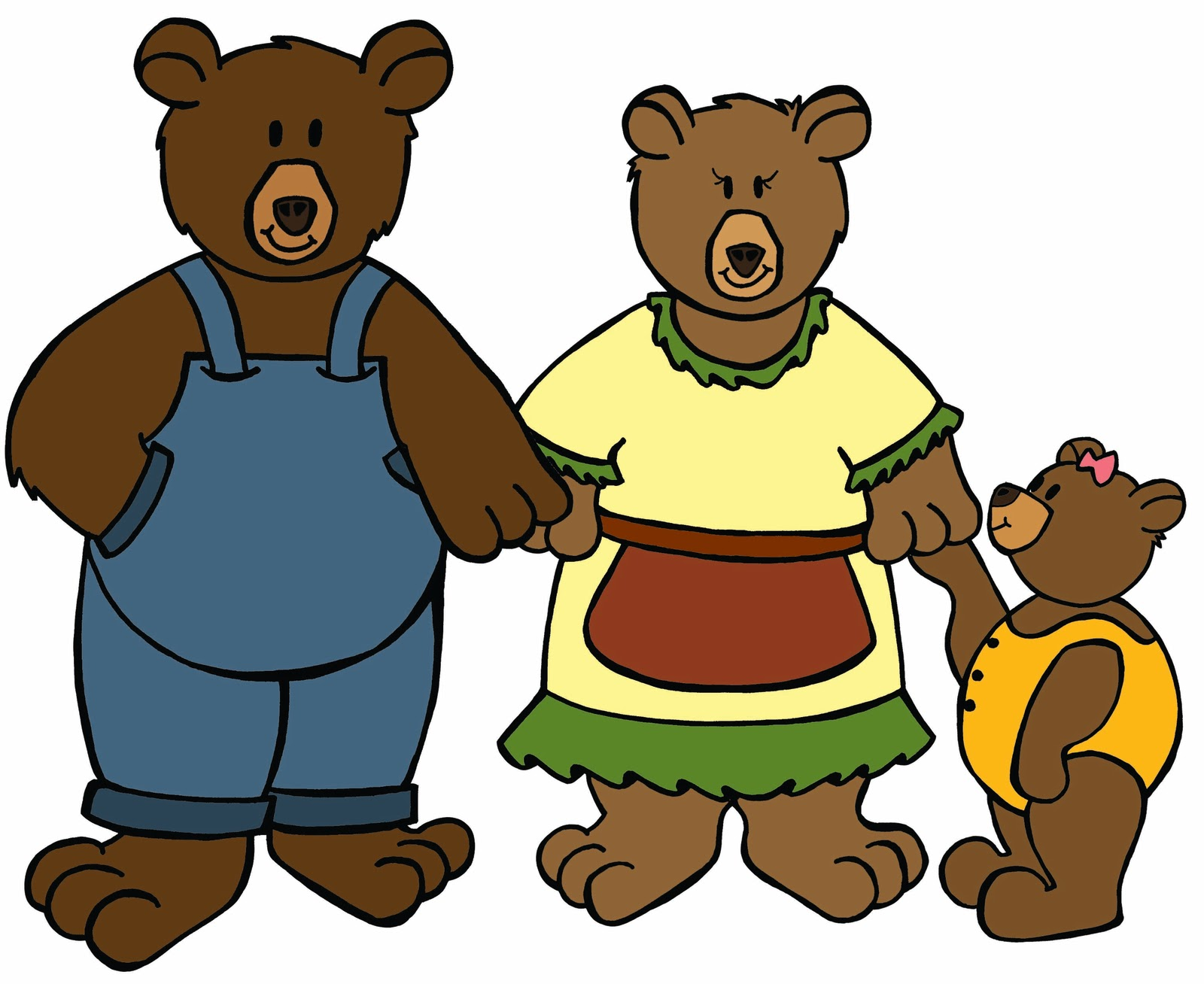 Brown Bear clipart 3 bears Cliparts Clipart The And Three