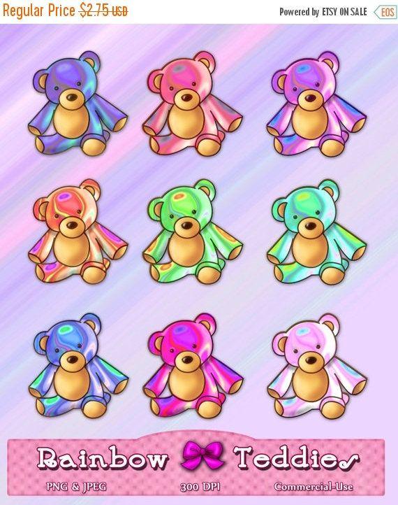 Bear clipart rainbow #14