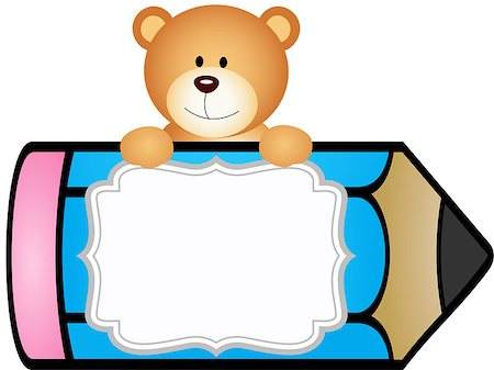 Bear clipart student Clipart and clipart vectorial label