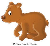 Bear Cub clipart Cub white  Brown Brown