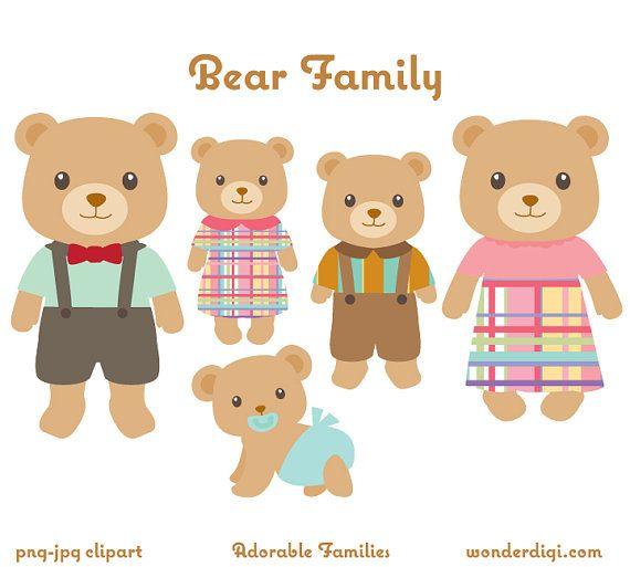 Teddy clipart family #4
