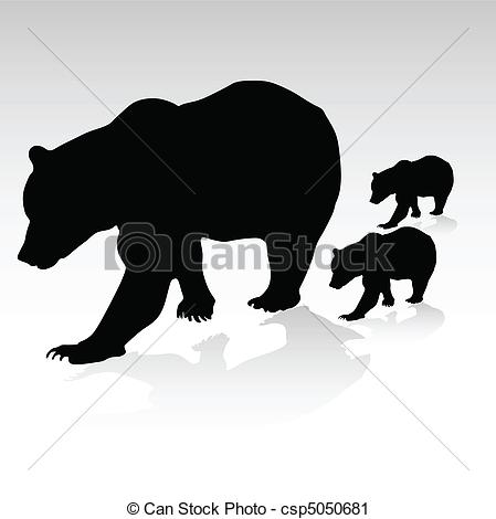 Bear Cub clipart drawn Bear Google clipart outline illustrations