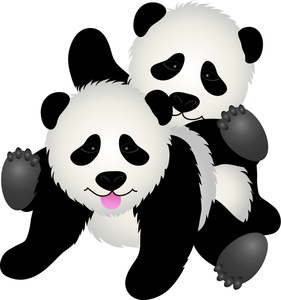 Drawn panda cute lil Bear Frolicking Clipart of Baby