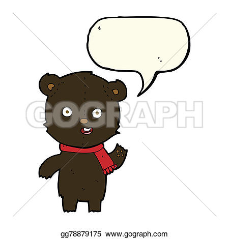Bear Cub clipart drawn Gg78879175 black waving Cartoon Clipart