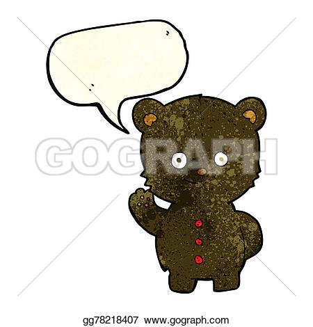 Bear Cub clipart drawn Black speech with cub Drawing