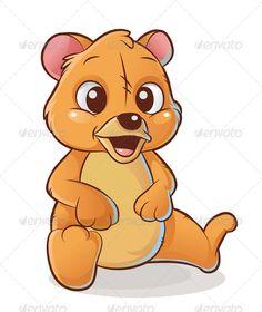 Bear Cub clipart fur Geek Girl psd) ( mascot