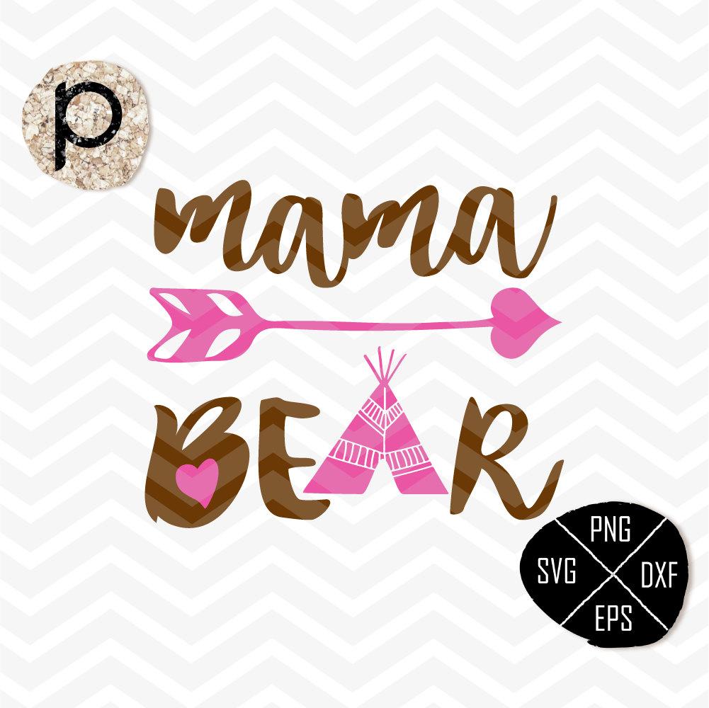 Bear Cub clipart momma Mama Etsy Bear pee SVG*Mama