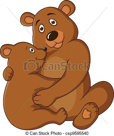 Bear Cub clipart momma   Clipart baby Illustration
