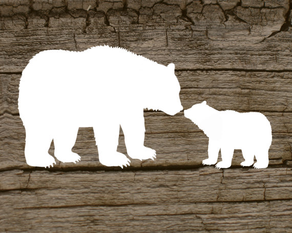 Larger clipart mother bear 00 cub and ElevatedDesignShop her