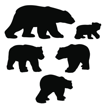Bear Cub clipart polar animal Collection bear silhouette cub silhouette