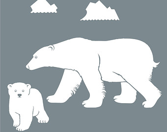 Bear Cub clipart polar animal Decal bear wall mother vinyl