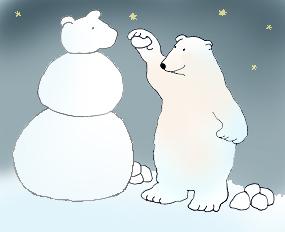 Drawn polar  bear snow bear Color with Art bear Polar