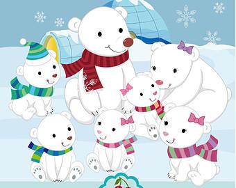 Bear Cub clipart snow bear Bear Snow Clipart Snow Etsy