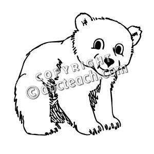 Bear Cub clipart snow bear Black Bear white and clipart