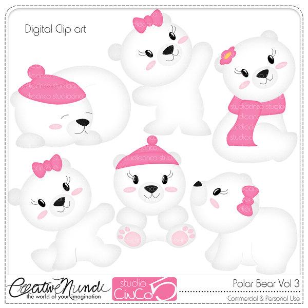 Bear Cub clipart snow bear Download Commercial Instant Cliparts Vol