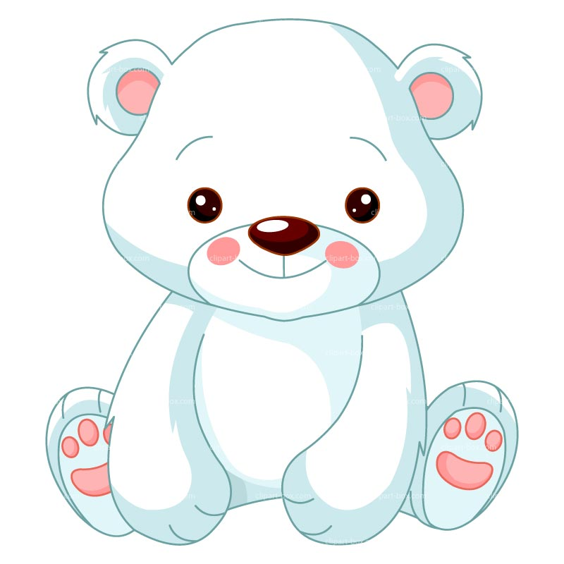Drawn polar  bear cute winter #1