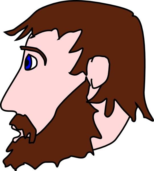 Beard clipart bearded man Side download  art Beard