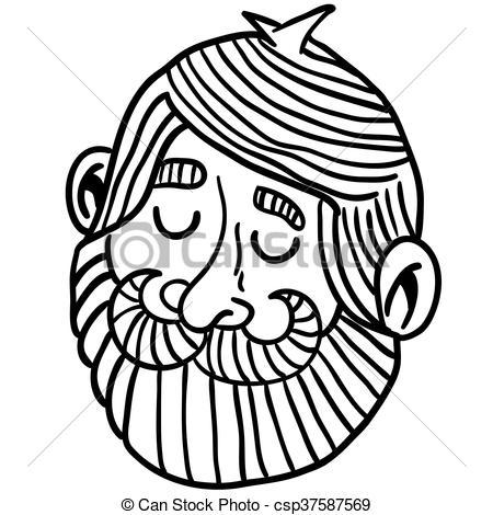Beard clipart black and white #10