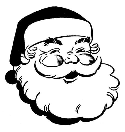Beard clipart black and white #2