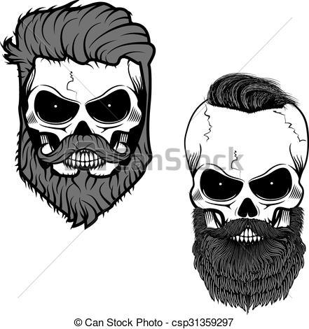 Beard clipart black and white #9