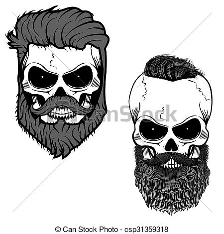 Beard clipart illustration #1