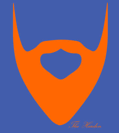 See beard Harden's James Must