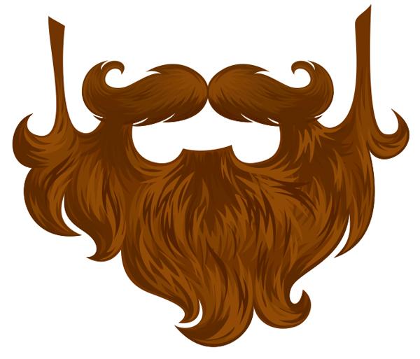 Beard clipart realistic #15