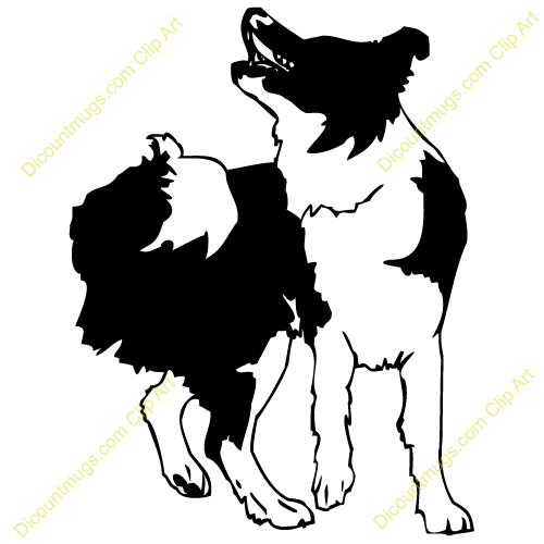 Bearded Collie clipart #animal #furry and #black Collie