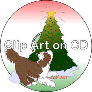 Bearded Collie clipart christmas Art christmas clip cd T
