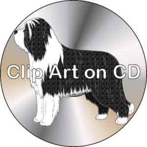 Bearded Collie clipart christmas Prints clipart art png shirts