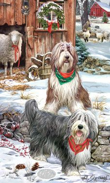 Bearded Collie clipart christmas Collie Christmas collie by Mug