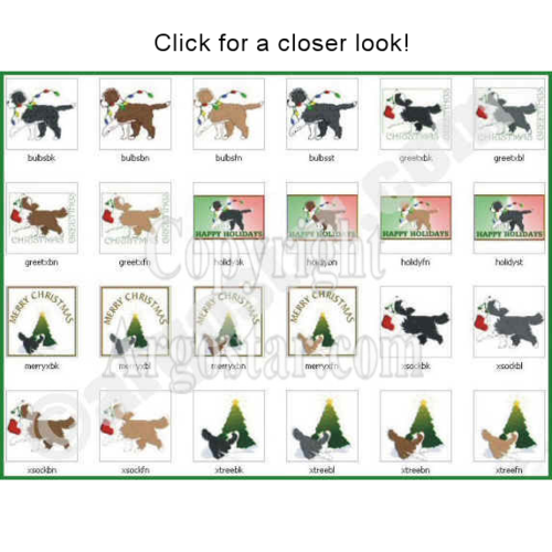 Bearded Collie clipart christmas Download Christmas Digital Art Christmas