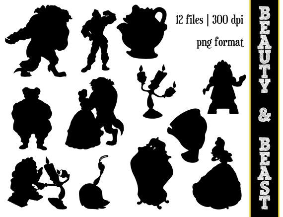 Beast clipart black and white #13