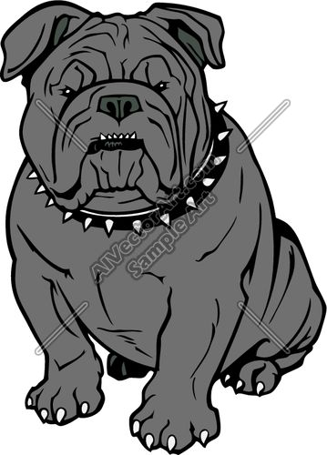 Grey clipart bulldog #8