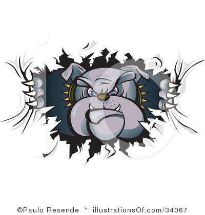 Grey clipart bulldog #9