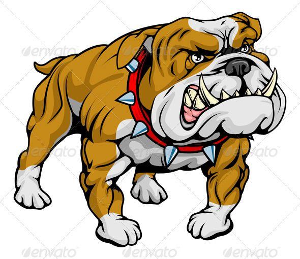 Drawn bulldog bulldog head British on bulldog character A