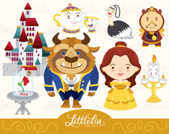 Beast clipart cute Set Princess 14018 Belle clipart